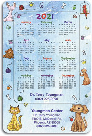 Happy Pet Border ReStix™ Sticker Calendar