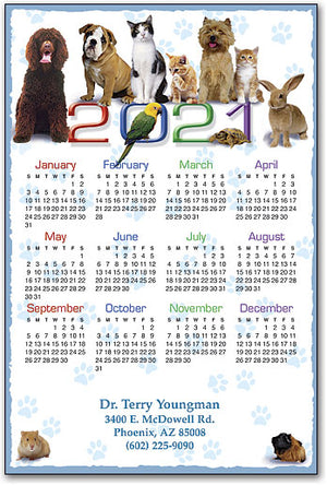 Animal Friends ReStix™ Sticker Calendar