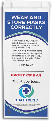 Custom Face Mask Storage Paper Bag