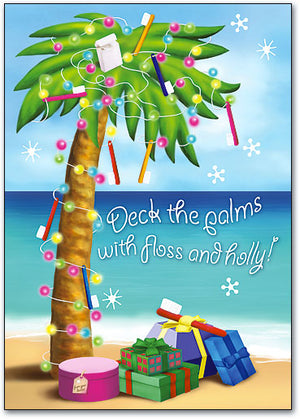 Deck the Palms Holiday Postcard
