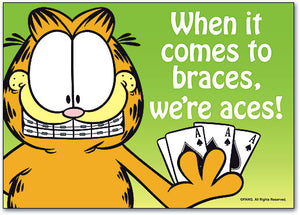 We're Aces With Braces Standard Postcard