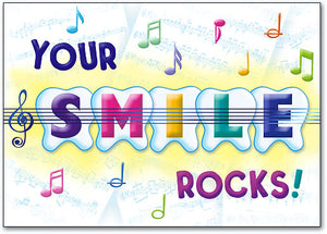 Your Smile Rocks Postcard