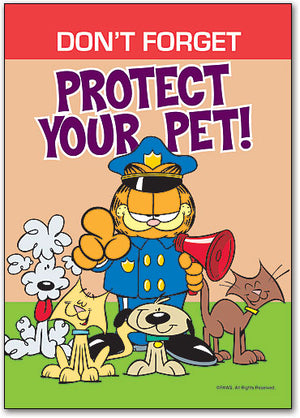 Protect Pet Police Postcard