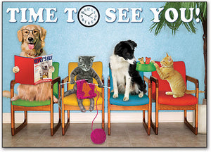 Pet Time Waiting Room 4-up Laser Card