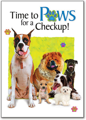 Paws for a Checkup Postcard