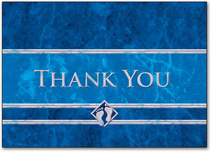 Thank You Blue Feet Postcard