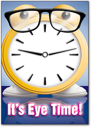 Clock Time Glasses Postcard