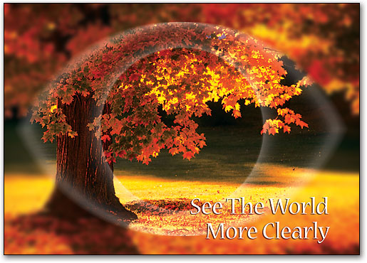 See The World Fall Postcard