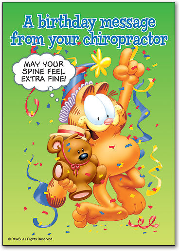 Birthday Chiro Message Postcard
