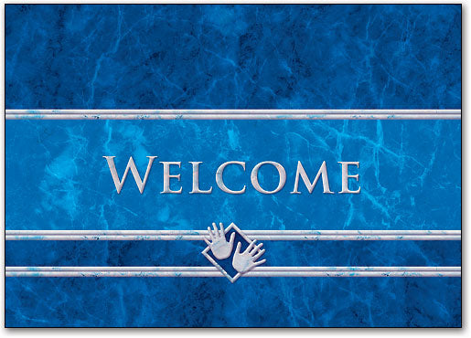 Welcome Blue Marble Postcard