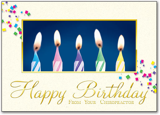 Golden Birthday Postcard
