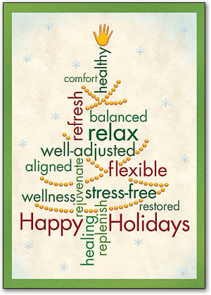 Chiro Word Tree Postcard