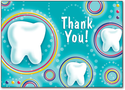 Bright Teeth and Circles Thank You Postcard