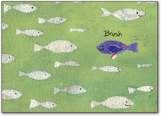 Purple Fish Standard Postcard