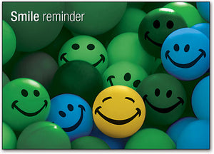 Smiley Reminder Round Postcard