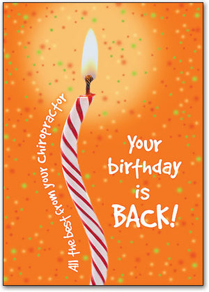 Birthday is Back Postcard