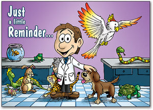 At the Vet Postcard