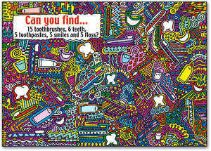Find the Hidden Dental Items Postcard