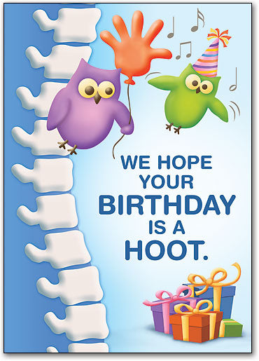 Birthday Hoot Postcard