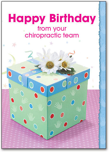 Polka Dot Birthday Postcard