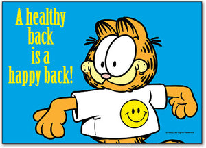 Healthy Happy Back Postcard