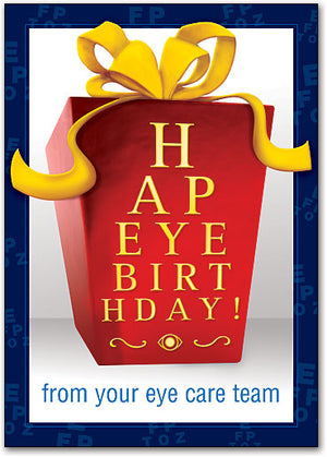 Eye Chart Birthday Box Customizable Postcard