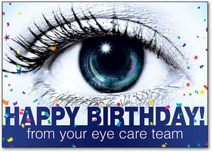Eye Spy Happy Birthday Customizable Postcard