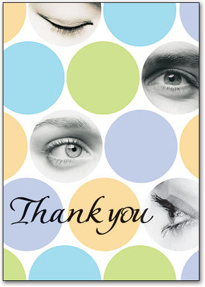 Dynamic Dots Thank You Customizable Postcard