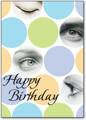 Dynamic Dots Birthday Customizable Postcard