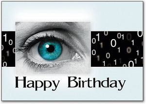 Blue Eye Birthday Postcard