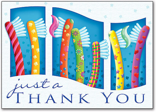Happy Toothbrushes Thank You Postcard