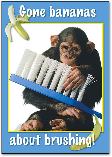 Bananas About Brushing Postcard