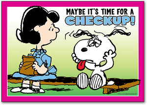 Snoopy Checkup Postcard