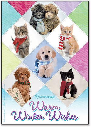 Warm Winter Wishes Deluxe Postcard