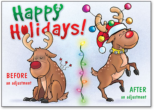 Reindeer Before and After customisable Postcard