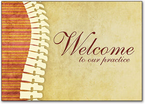 Two-Tone Welcome customisable Postcard