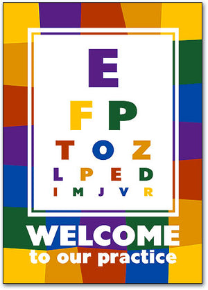 Eye Chart Welcome Postcard