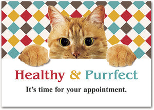 Healthy Purrfect Customisable Postcard