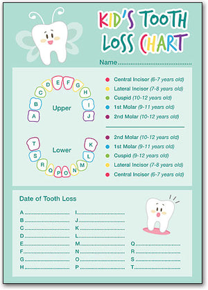 Kid's Tooth Loss Chart