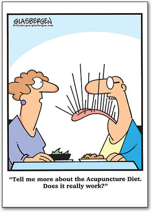 Acupuncture Diet Postcard