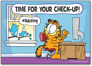 Garfield Adulting Postcard