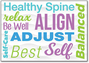 Healthy Words Customizable Postcard