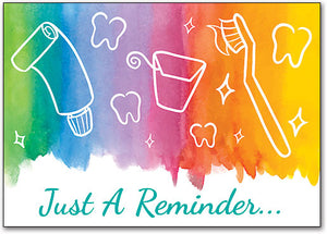 Color Wash Reminder Customizable Postcard