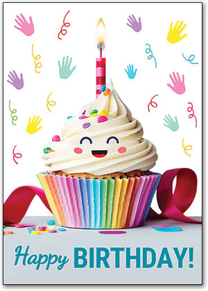 Cheerful Cupcake Customizable Postcard