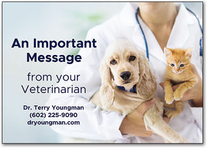 Note From Veterinarian Postcard