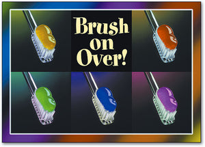 Brush on Over Postcard