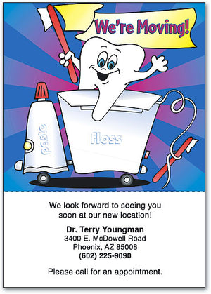 Tooth Floss Paste Moving Postcard