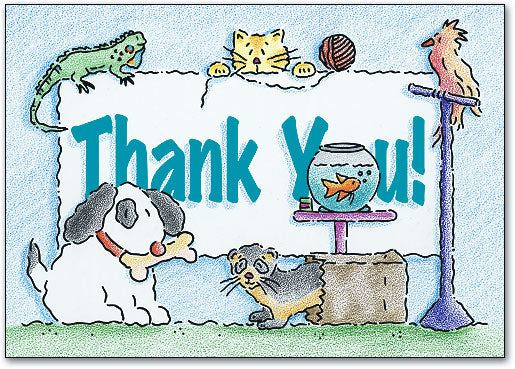 Thank You Pets Postcard