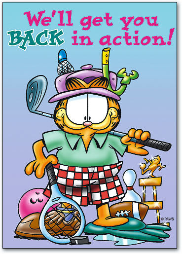 Back in Action Postcard