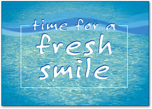 Time for a fresh smile Postcard